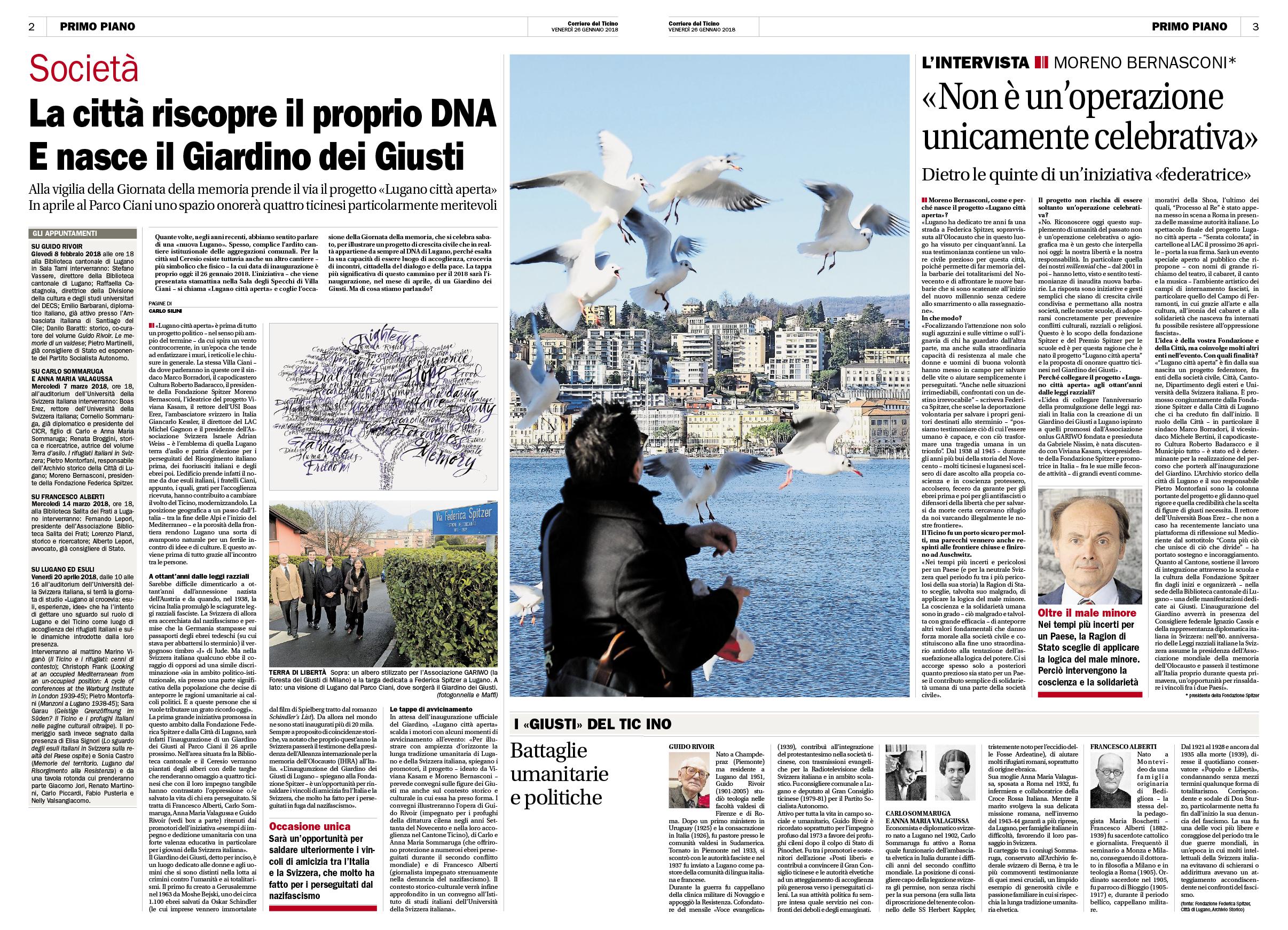 26.01.18 - Corriere del Ticino