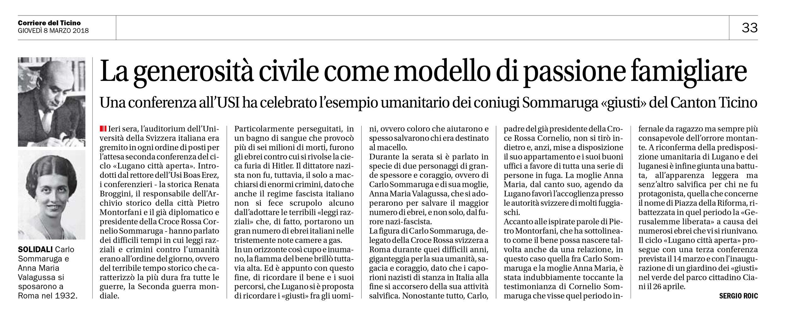 08.03.18 - Corriere del Ticino