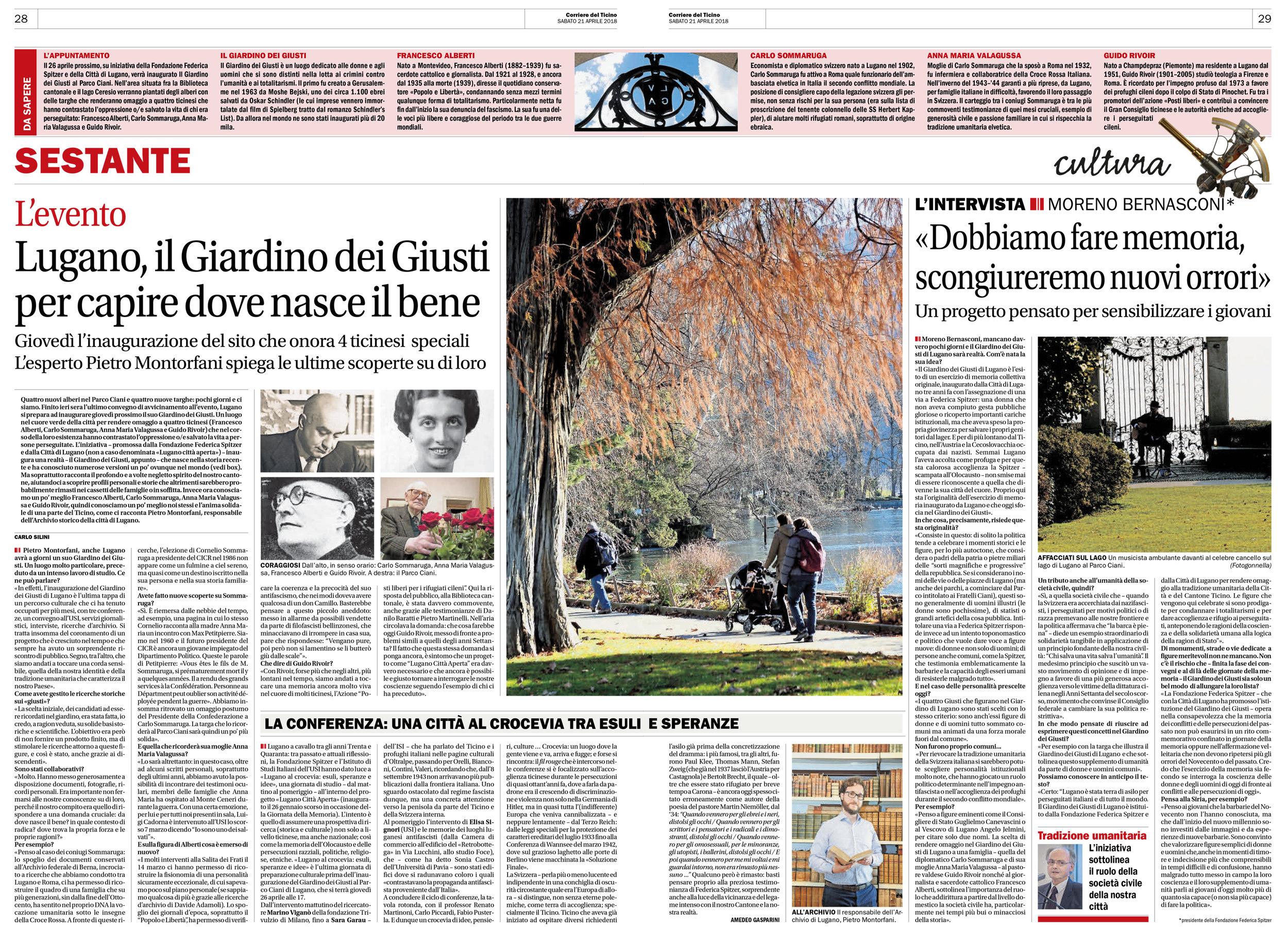 21.04.18 - Corriere del Ticino