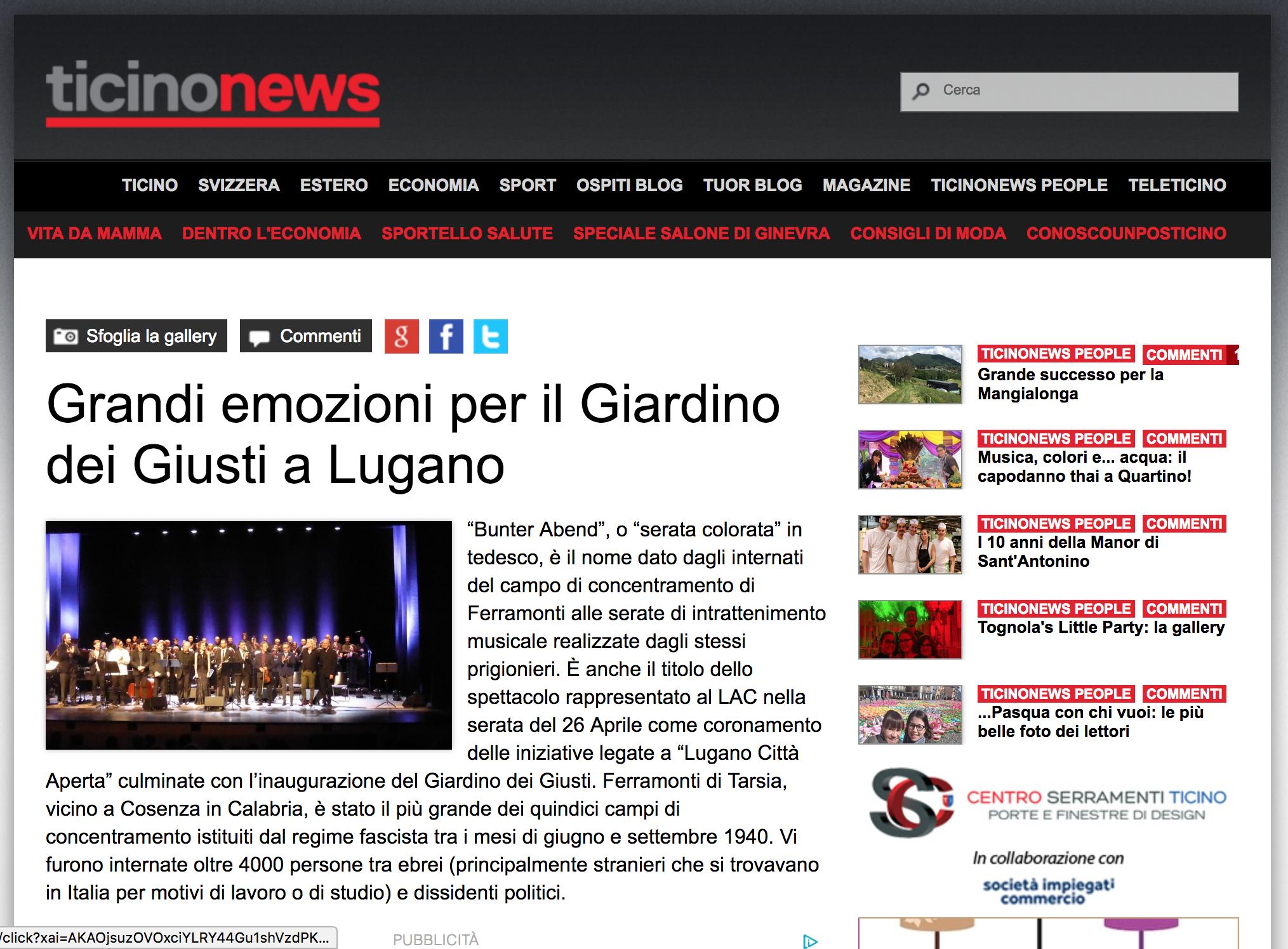 30.04.18 - Ticinonews