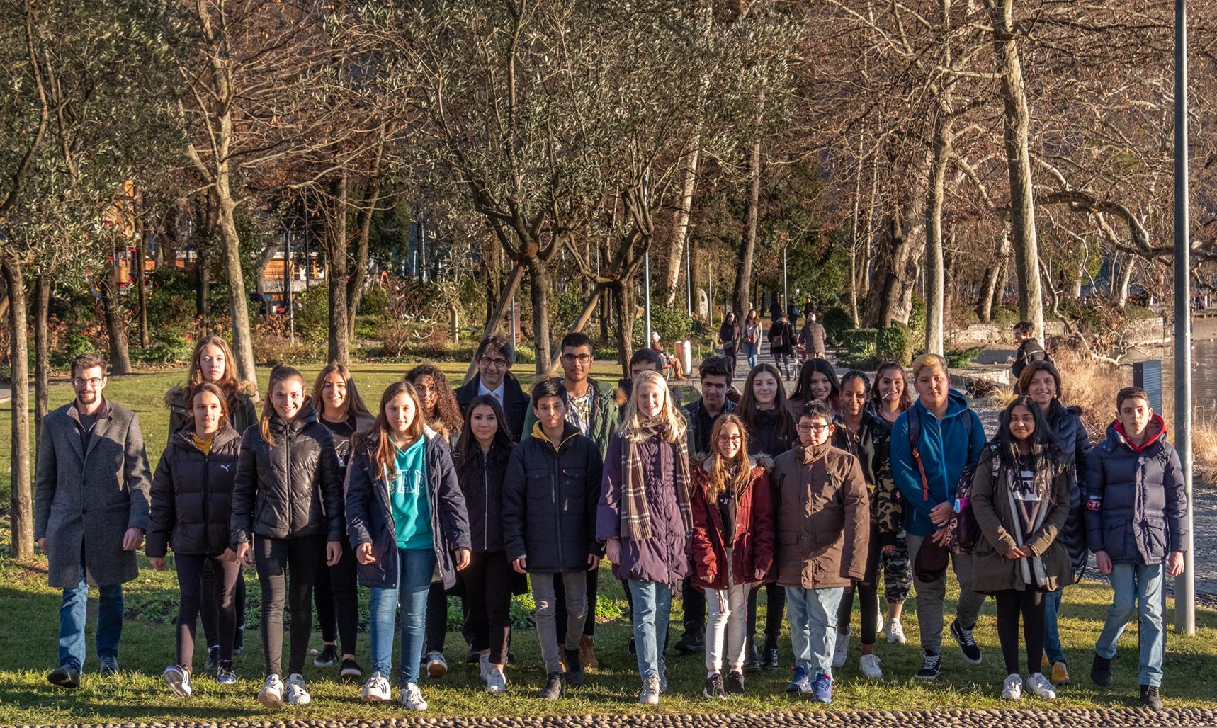 I laureati del Premio Spitzer 2019 al Giardino dei Giusti di Lugano - Foto: Marco Gianinazzi