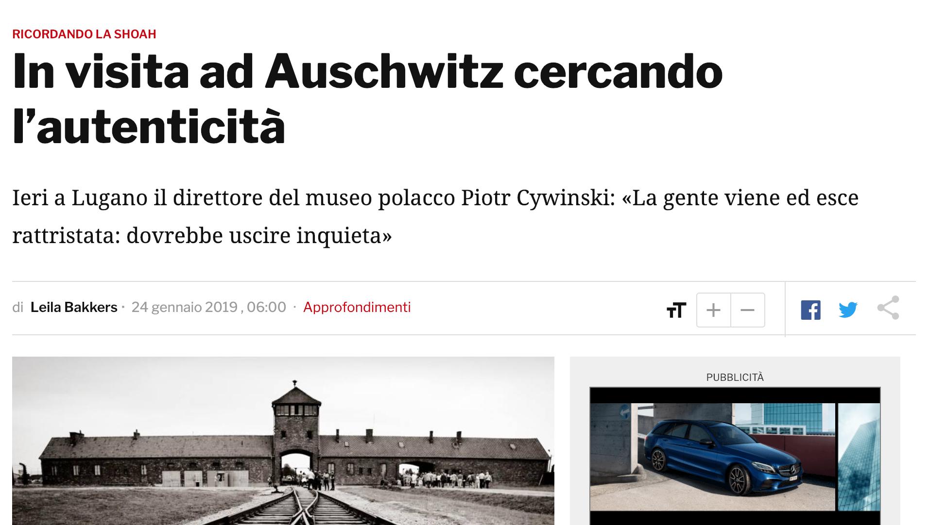 24.01.19 - Corriere del Ticino