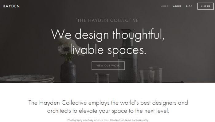 6 hayden squarespace template