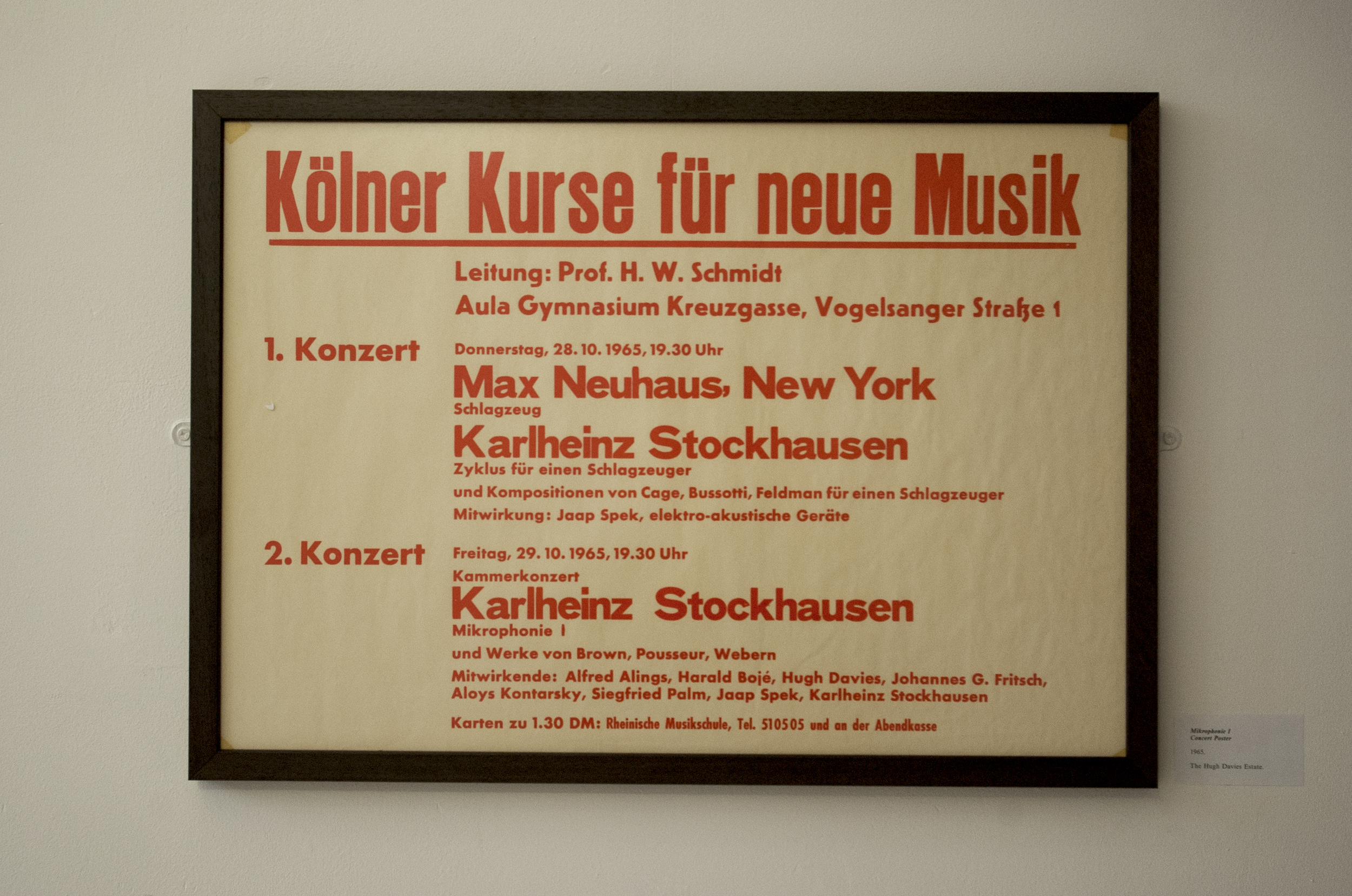 Mikrophonie I Performance Poster, 1965