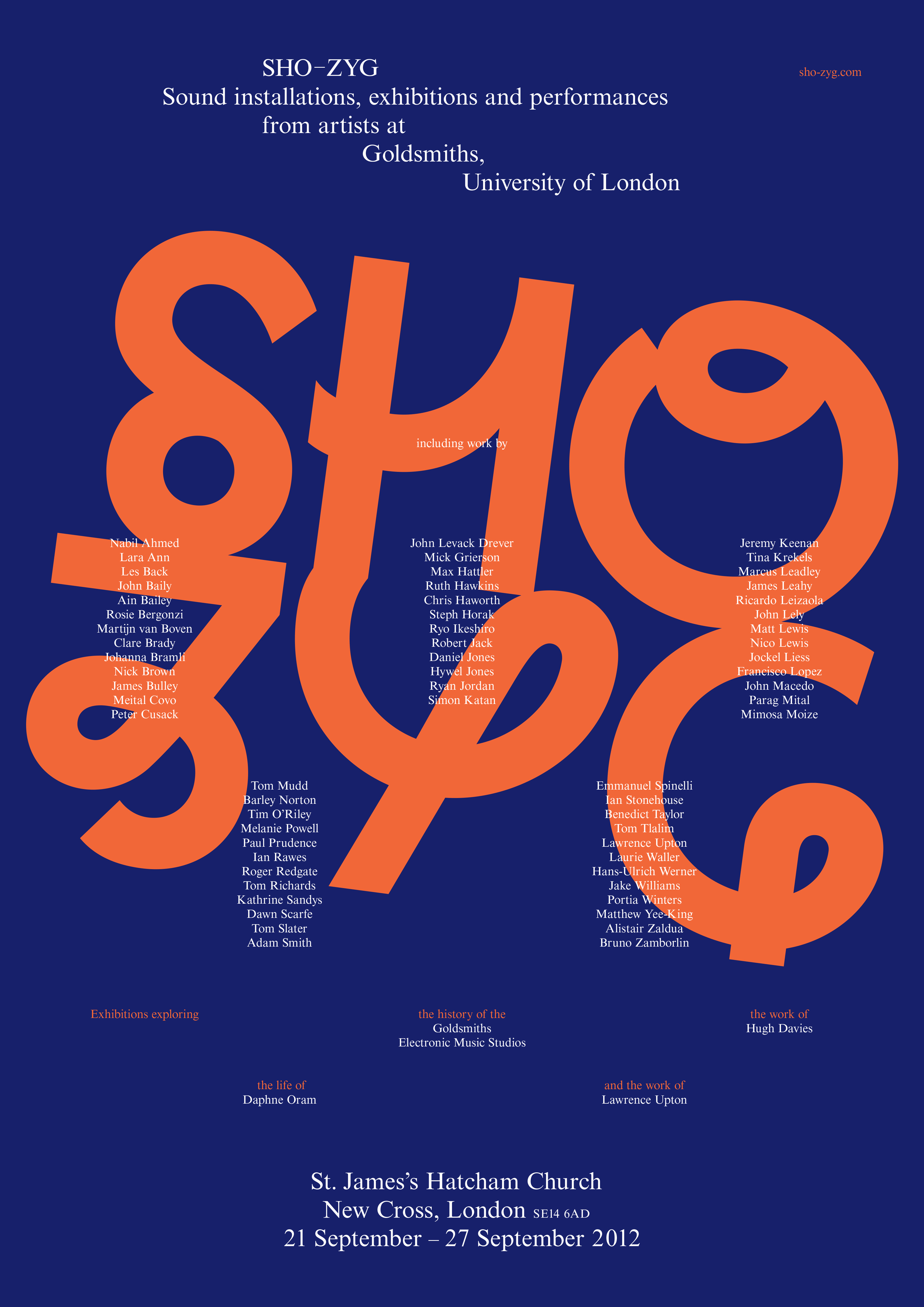 Sho-Zyg Exhibition Poster, 2012