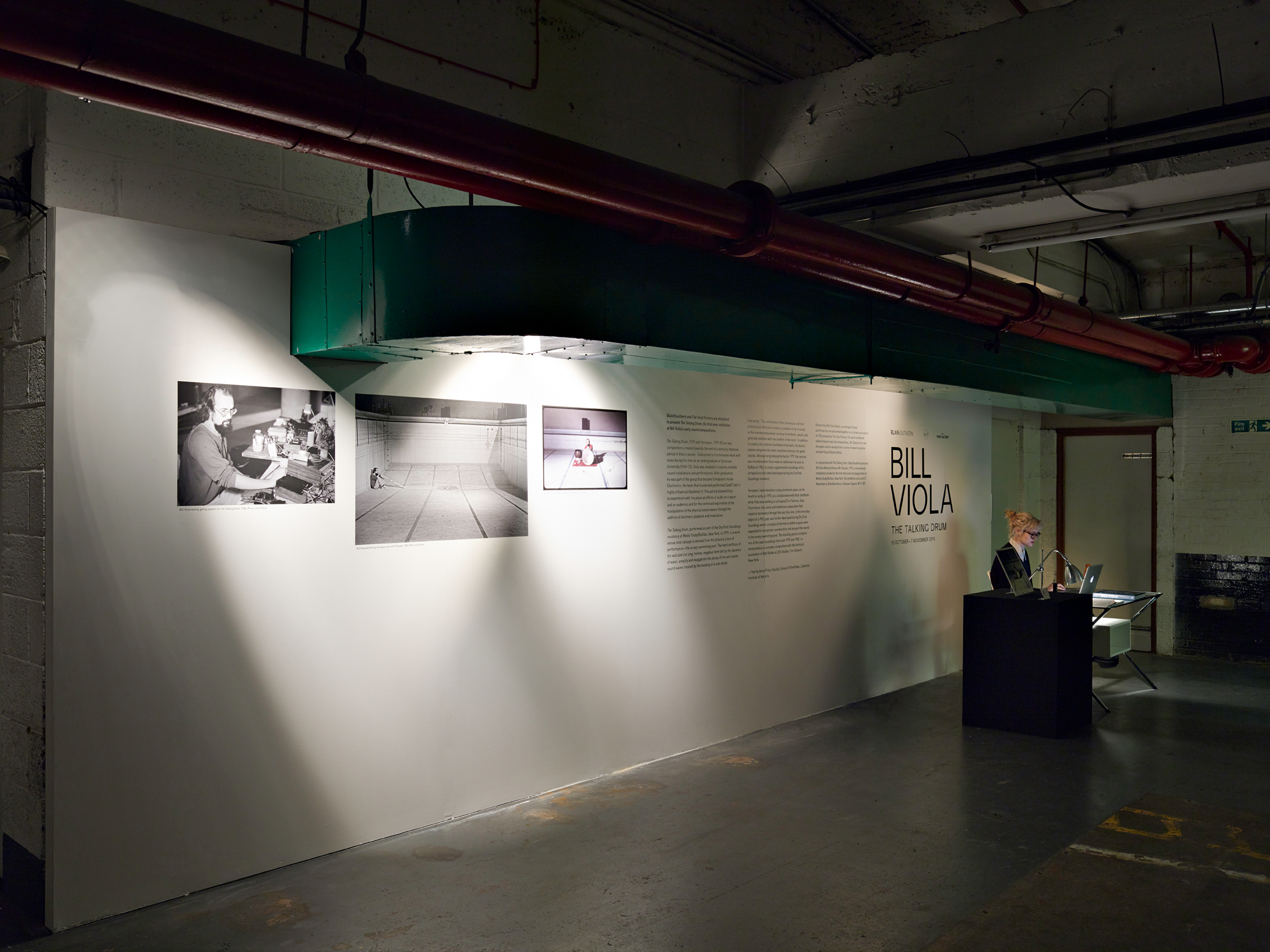 Entry to Talking Drum exhibition