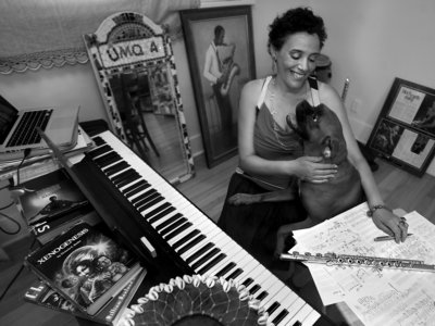 """Nicole Mitchell is a creative flutist, composer, bandleader and educator. As the founder of Black Earth Ensemble, Black Earth Strings, Ice Crystal and Sonic Projections, Mitchell has been repeatedly awarded by  DownBeat  Critics Poll and the Jazz Journalists Association as """"Top Flutist of the Year"""" for the last four years (2010-2014). Mitchell's music celebrates African American culture while reaching across genres and integrating new ideas with moments in the legacy of jazz, gospel, experimentalism, pop and African percussion through albums such as Black Unstoppable (Delmark, 2007), Awakening (Delmark, 2011), and  Xenogenesis Suite: A Tribute to Octavia Butler (Firehouse 12, 2008), which received commissioning support from Chamber Music America's New Jazz Works.  Mitchell formerly served as the first woman president of Chicago's  Association for the Advancement of Creative Musicians (AACM), and has been a member since 1995. In recognition of her impact within the Chicago music and arts education communities, she was named """"Chicagoan of the Year"""" in 2006 by the  Chicago Tribune. With her ensembles, as a featured flutist and composer, Mitchell has been a highlight at festivals and art venues throughout Europe, the U.S. and Canada.  Ms.  Mitchell is a recipient of the prestigious  Alpert Award in the Arts (2011) and has been commissioned by Chicago's Museum of Contemporary Art, the Ravinia Festival, the Chicago Jazz Festival, International Contemporary Ensemble (ICE), the Chicago Sinfonietta Orchestra and Maggio Fiorentino Chamber Orchestra (Florence, Italy). In 2009, she created  Honoring Grace: Michelle Obama  for the Jazz Institute of Chicago. She has been a faculty member at the Vancouver Creative Music Institute, the Sherwood Flute Institute, Banff International Jazz Workshop and the University of Illinois, Chicago. Her work has been featured on National Public Radio, and in magazines including  Ebony, Downbeat, JazzIz, Jazz Times, Jazz Wise, and American Legacy """
