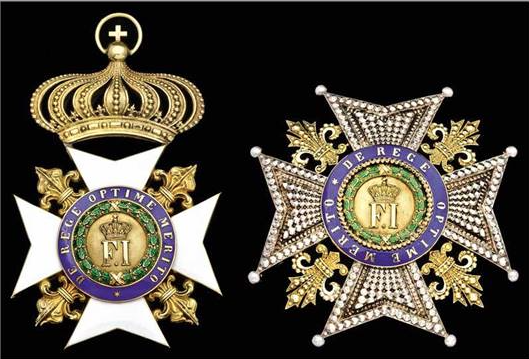 A 19th Century Badge and Star of the Royal Order of Francis I