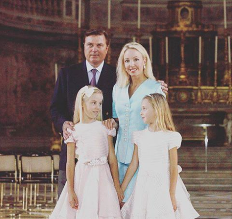 TRH with HRH the Duchess of Palermo and HRH the Duchess of Capri.