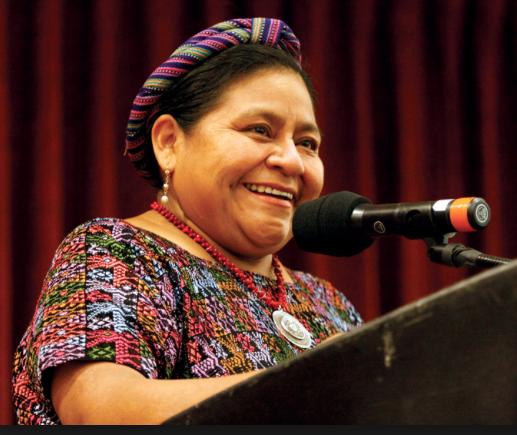 Nobel Peace Prize Laureate Rigoberta Menchu