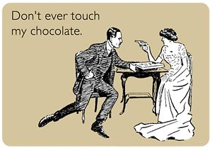 The preschooler wants MY chocolate.