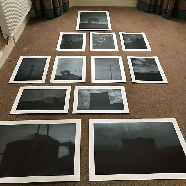 Selecting work to frame and hang at our MA show at the Arnolfini on 7th of June.