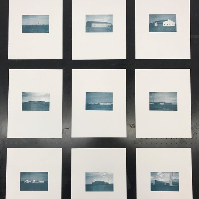Keflavik Duotone - collection of nine mini-prints for a possible artist book.