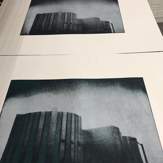 Nuclear No. 1 - Oldbury Power Station pinhole camera screen print
