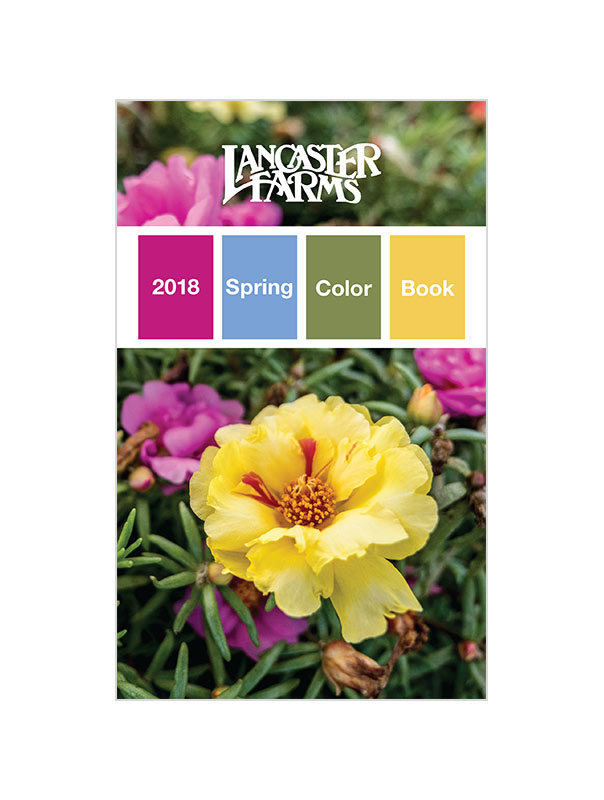 2018 Spring ColorBook - View this Spring's selection of annual color. We have copies at the Plant Center and it's viewable online here. Again, we designed this with the client in mind, so there is no pricing. Pick up several of these if you are deep in the annuals game or you want to start offering them to your customer.