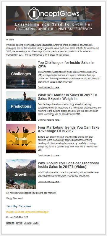 InceptGrows Newsletter