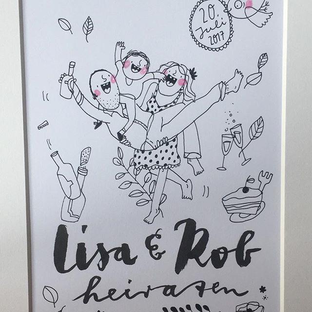 Hochzeitsillustration für Lisa&Rob 🌸 @frolleinmotte_illustration  #illustration #illustrativheiraten #illustrator #hochzeit #heiraten #hochzeitsillustration #wedding #inspiration #weddinginspiration #party #liebe #love #herz #handlettering #berlin #heirateninberlin