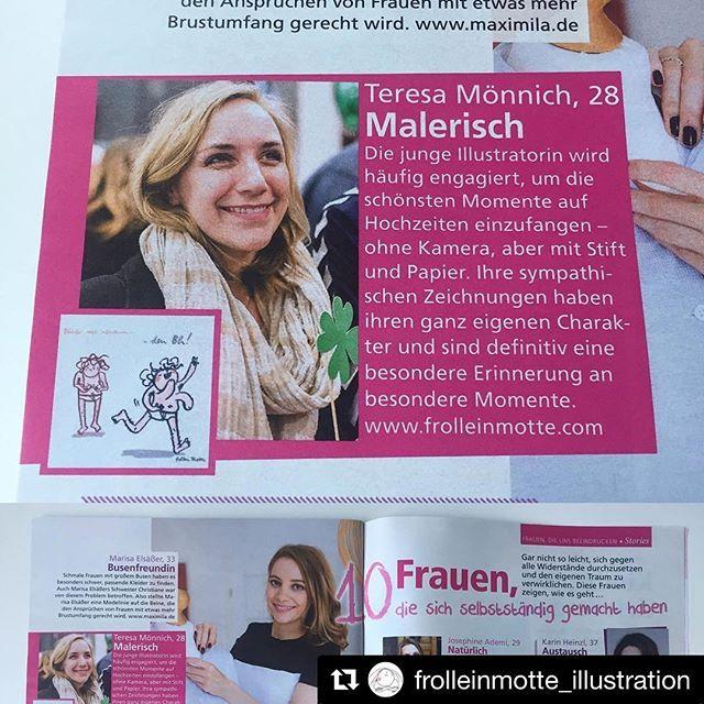 #Repost @frolleinmotte_illustration in der Myillu 5/2017 ❤️ ・・・ Foto: @ganz_in_weise_fotografie ************************* #illustrator #illustration #illustrationart #interview #pink #magazine #myillu #hochzeit #illustrativheiraten #illustrativ_heiraten #hochzeitsillustration #motti #brüste