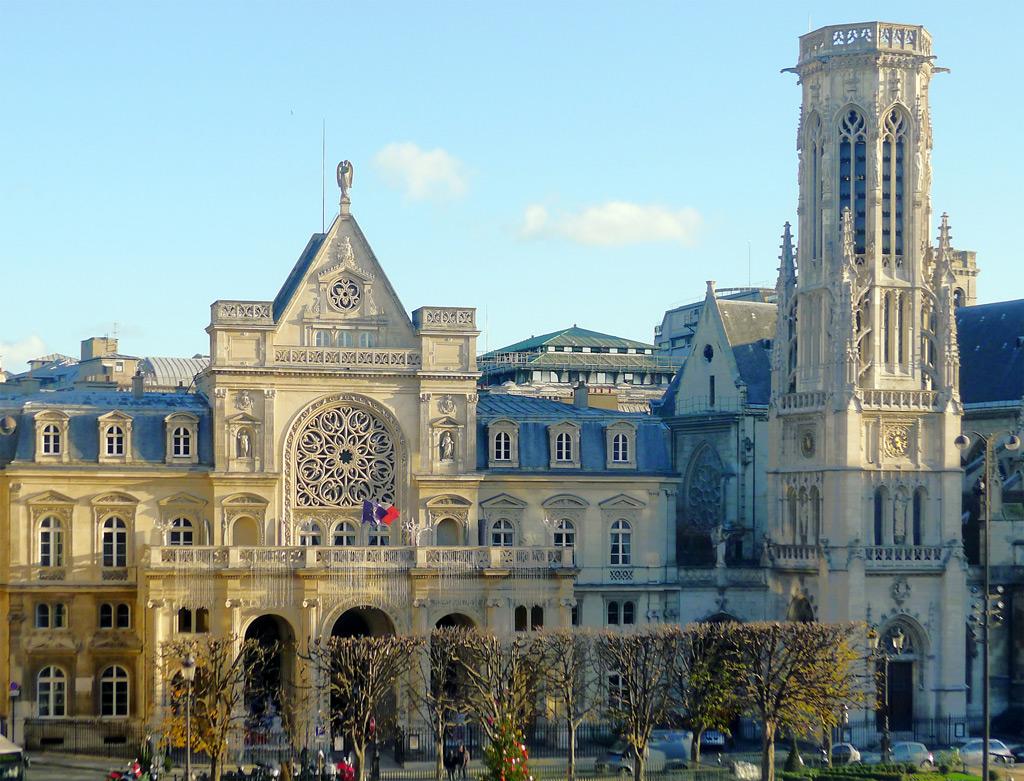 Paris, Mairie of 1st arrondissement. Architect: Jacques Hittorff (1858-1860)  Source: Lien