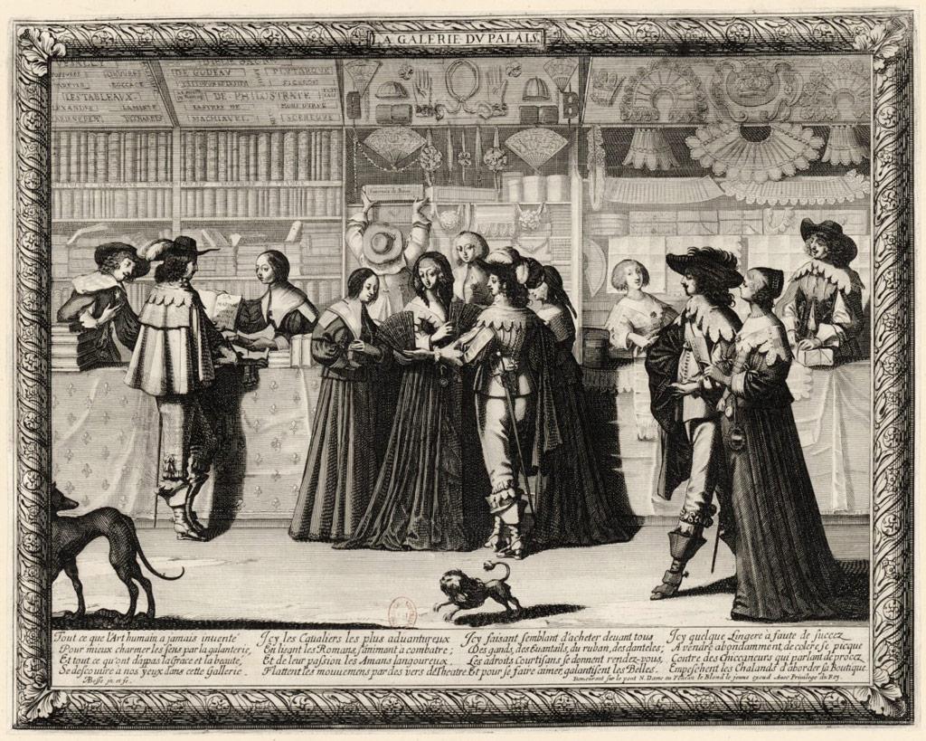 """Abraham Bosse (1602-1676), """"La Galerie du Palais"""" Source: BnF - Lien"""