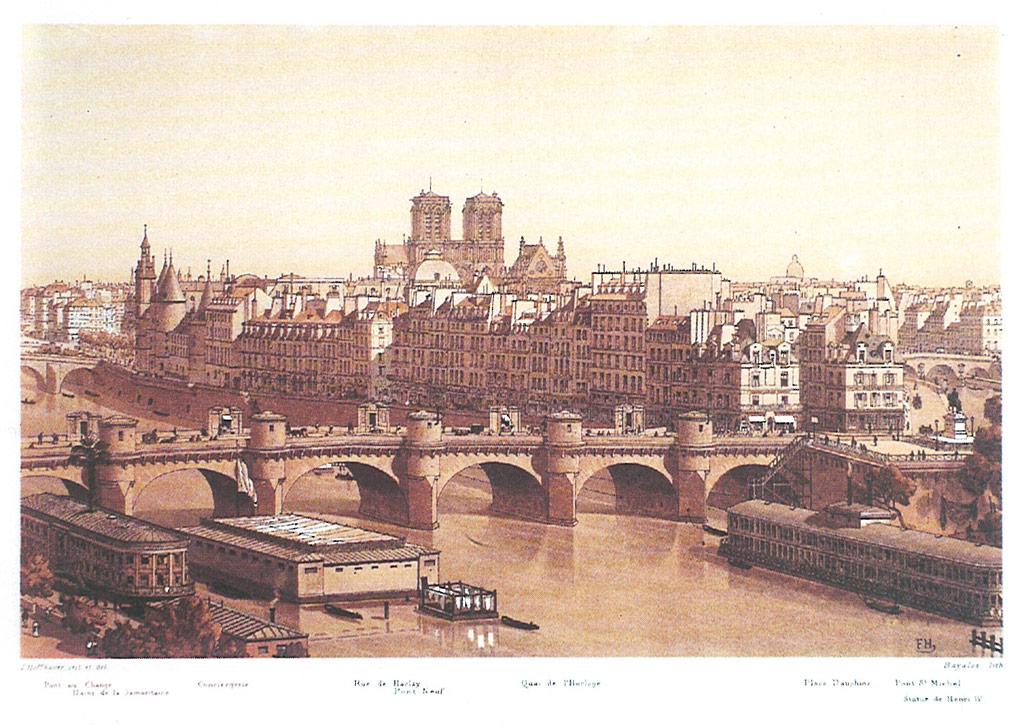 IIllustrations de  Paris à travers les âges , Pascal Payen-Appenzeller, Hoffbauer, aut. of the text. Paris, Tchou, 1978.  Source: BnF - Lien