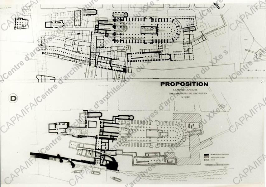 1966-67 Vue d'une proposition (non réalisée)  Crédits: SIAF / Cité de l'Architecture et du Patrimoine / Archives d'architecture du XXe siècle  Source  Lien