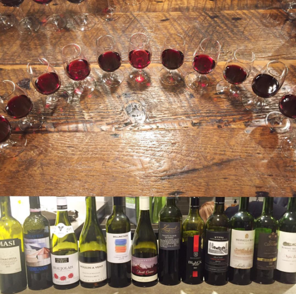 Bottles & a flight from one of the 12 wine mock MW exams