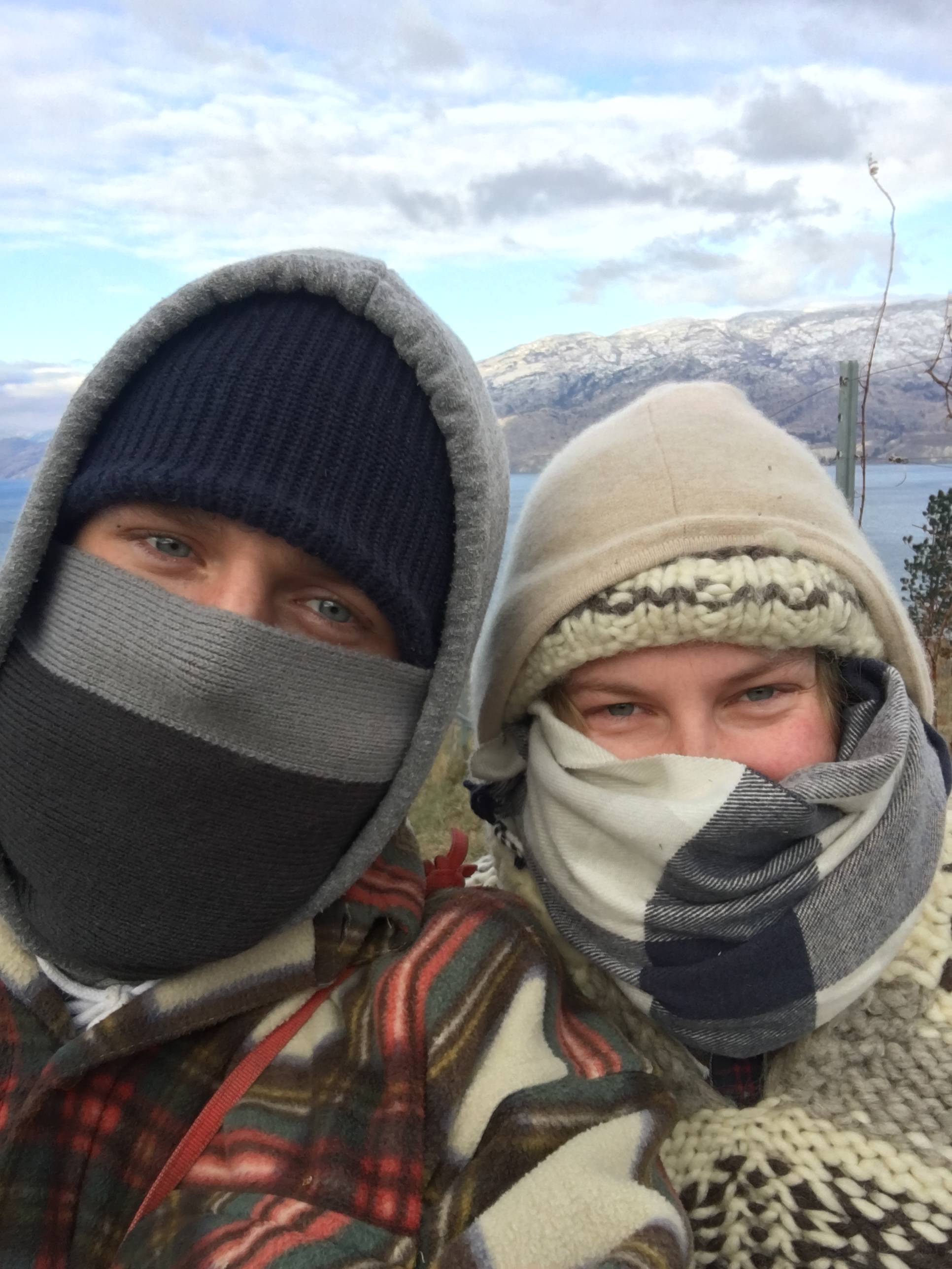 Intrepid young winemakers braving what was a very cold 2016 winter