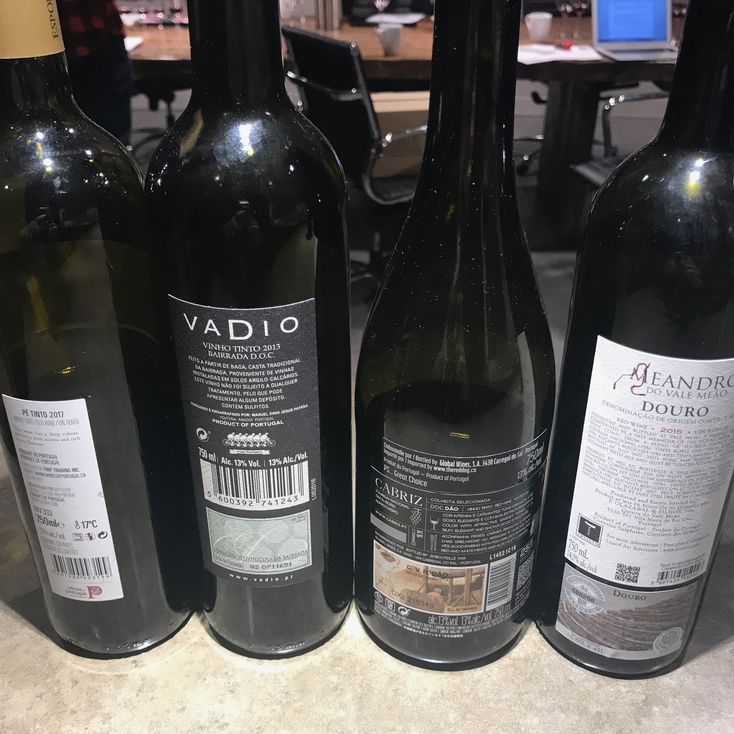Wines from L>R 4 - 3 - 2 -1