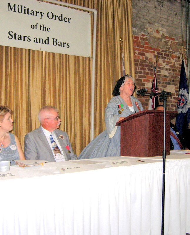 CAPE FEAR 3 VICE PRESIDENT, MRS. YVONNE BROWN. BRINGING REMARKS ON BEHALF OF THE ORGANIZATION AT THE NATIONAL CONVENTION OF THE MILITARY ORDER OF THE STARS AND BARS, HELD IN WILMINGTON FROM JULY 6-8, 2017