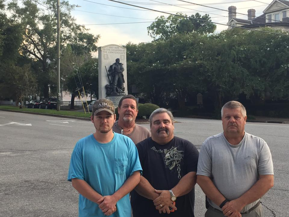 MEMBERS OF SCV GEORGE DAVIS CAMP 5 AND THE PENDER COUNTY GRAYS SCV CAMP, CHECKED ON THE BONEY CONFEDERATE MONUMENT TO ENSURE THAT IT WAS SAFE AND UNDAMAGED DUE TO RECENT ACTIVITIES PROTESTING CONFEDERATE MONUMENTS.