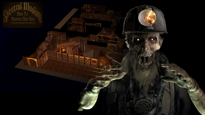 Concept/Design/Production, Hob's Pit Haunted Mine Ride, Pleasurewood Hills Theme Park, Sulffolk, UK