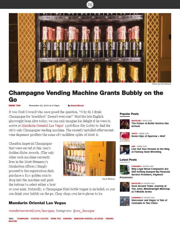 Moet Champagne for Vegas Seven Magazine