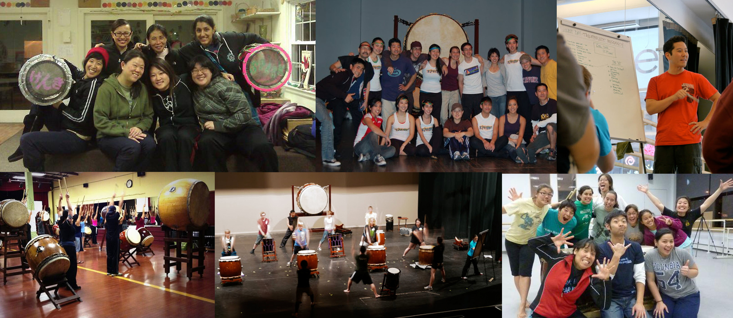 Group workshops with the Genki Spark (Boston, MA), Chibi Taiko (Vancouver, CA), Naruwan & SDT (San Diego, CA), and high school students (Cleveland, OH)