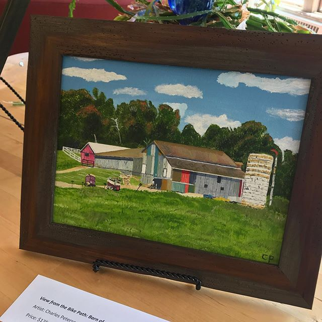 A sneak peak of @lickinglandtrust art auction items! Stop by and see them at the @creativecoopgranville from 5-7pm Saturday August 3. #artauction #localart #landpreservation
