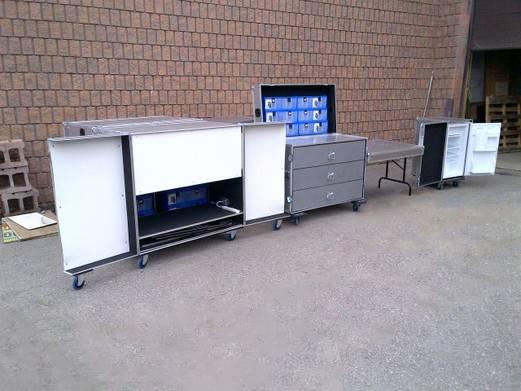 Aluminum ICS, VWS & RSC Cases - Stationary Opened State