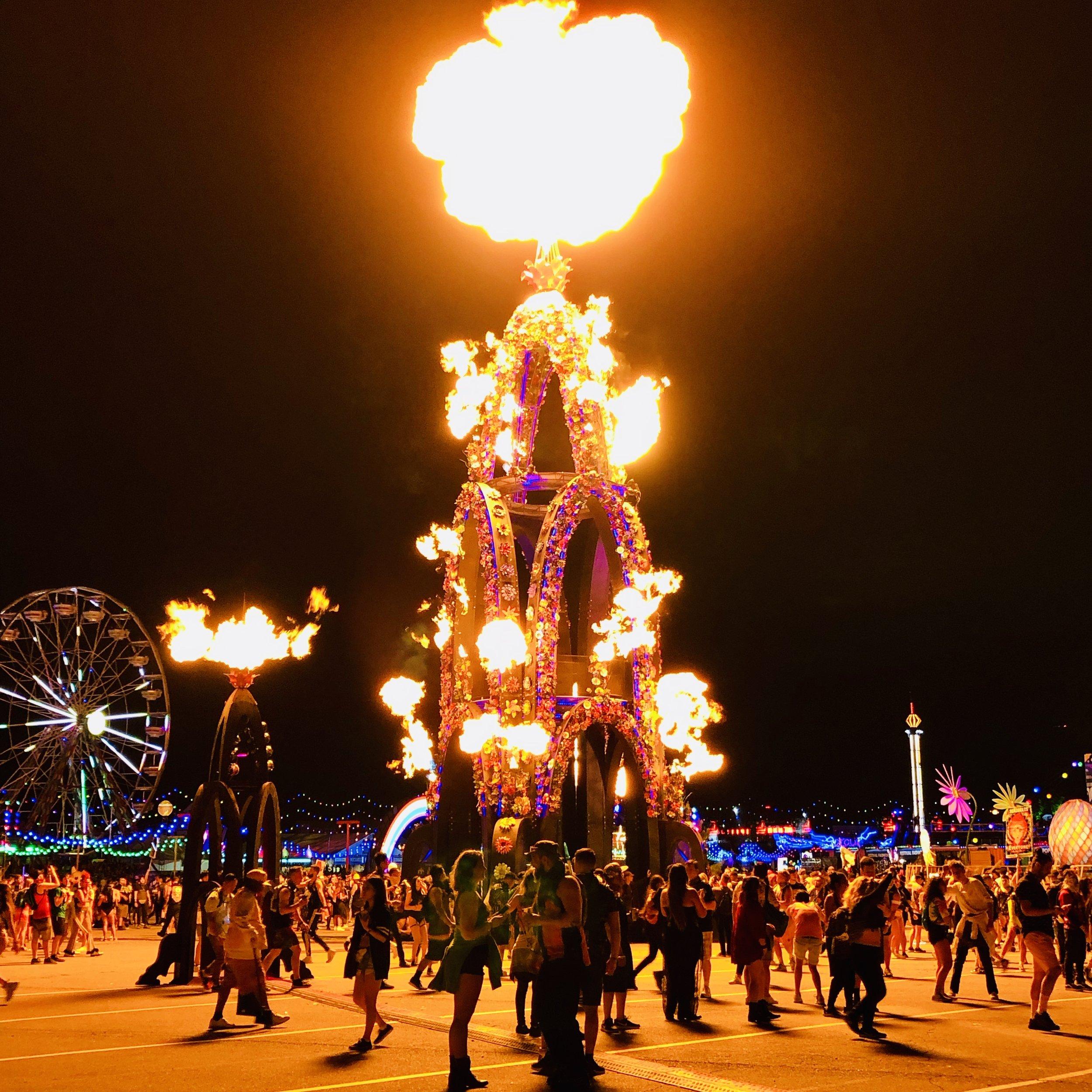 Flower Tower at Burning Man