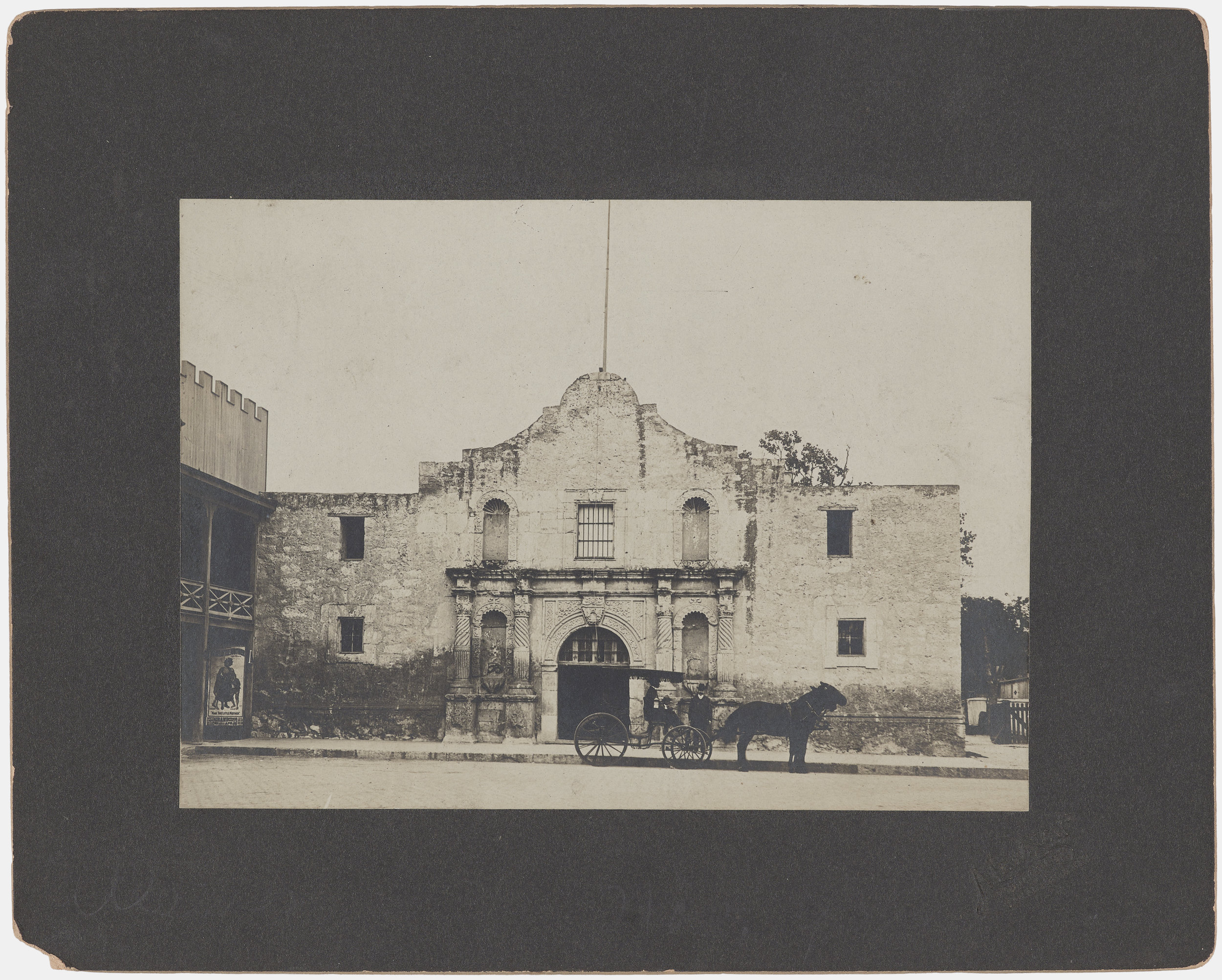 """""""Front View of the Alamo, Team-Drawn Wagon in Front,"""" by Abraham Lewis, c. 1906.(Photo: Courtesy of the Amon Carter Museum of American Art)"""