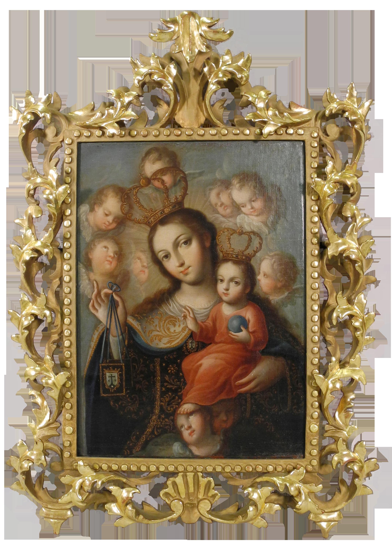"""""""Our Lady of Carmel"""" by José de Paez, c. 1790.(Photo: Courtesy of San Angelo Museum of Fine Arts)"""
