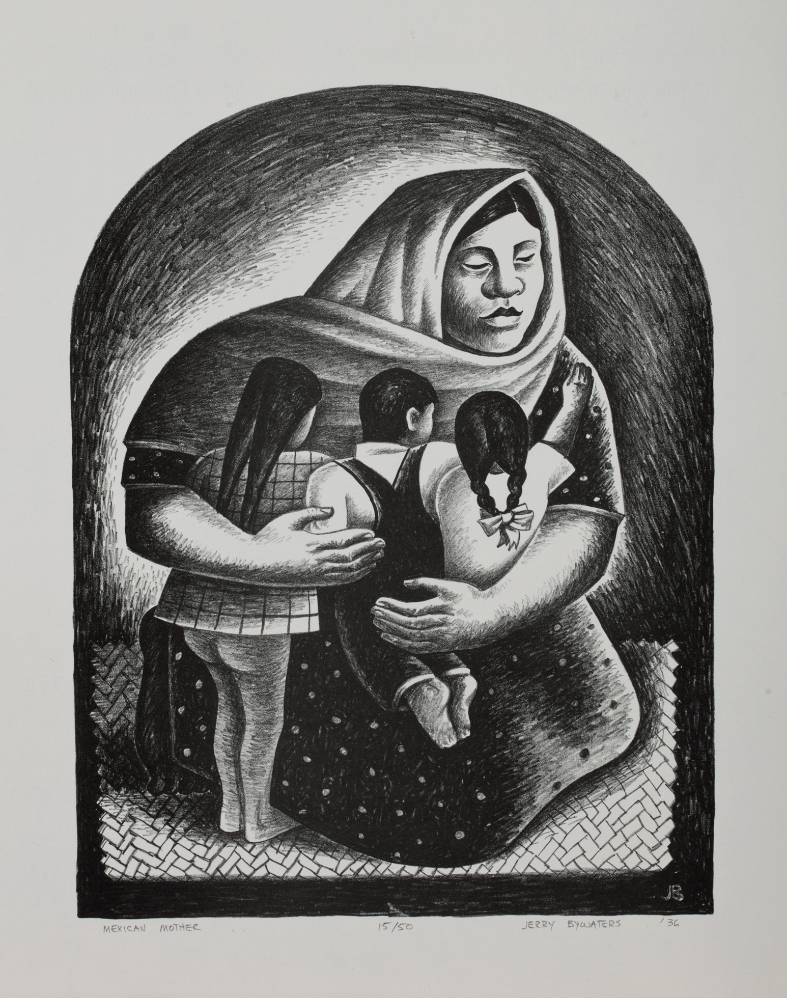 """""""Mexican Mother"""" by Jerry Bywaters, 1936.(Photo: Collection of The Grace Museum)"""