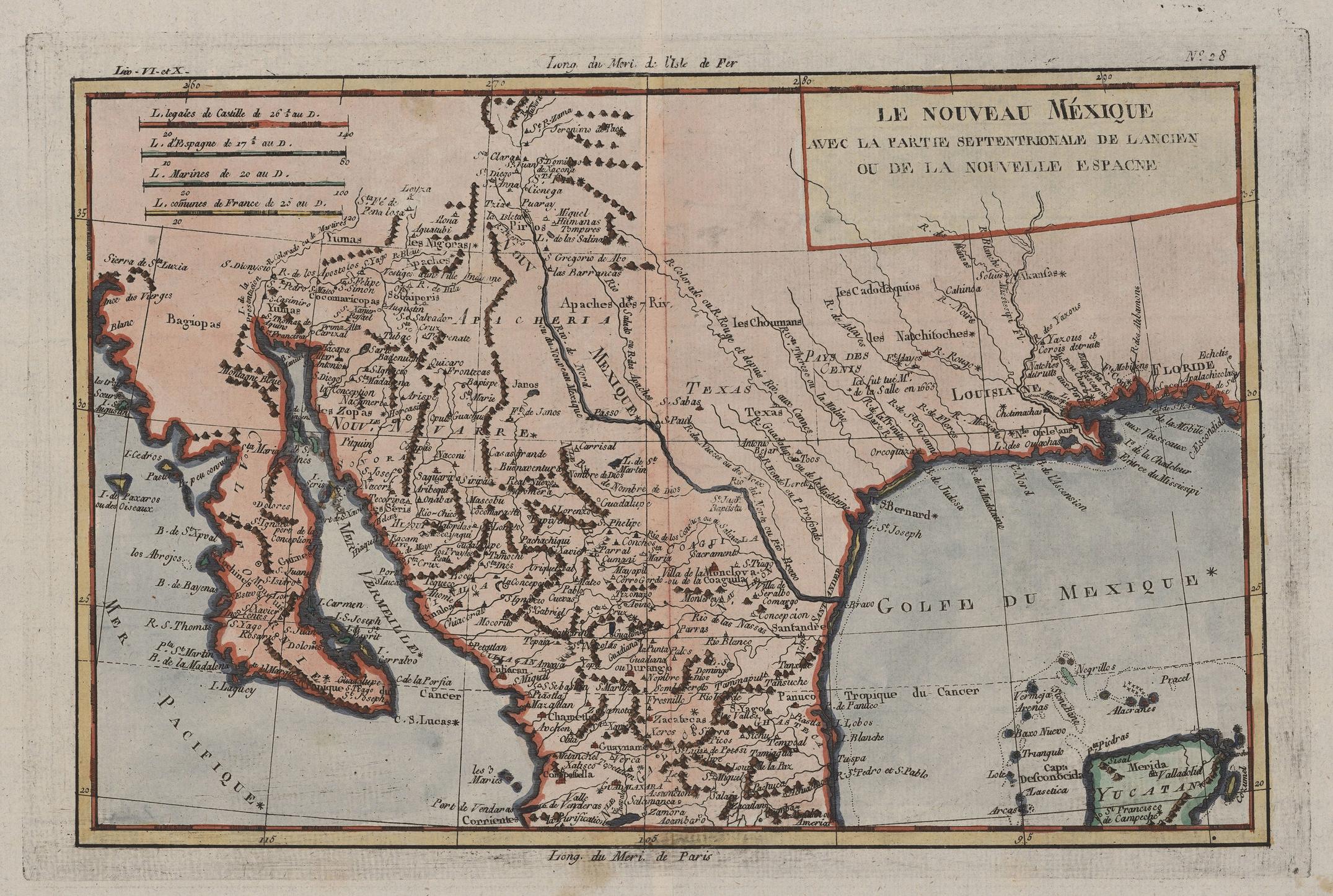 Amerique Septentrionale, 1750