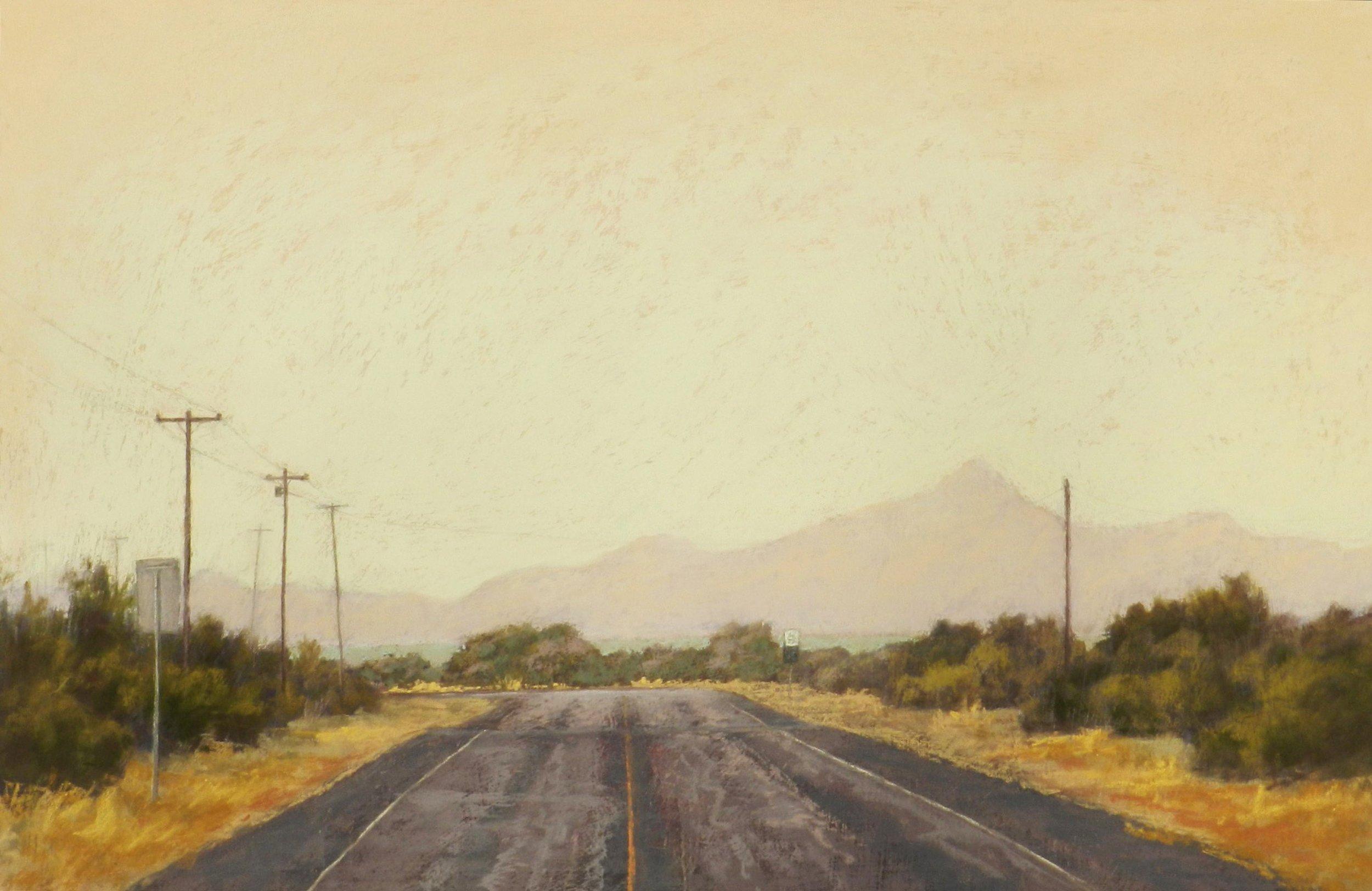 Jeri Salter,  Looking through the Haze , 2012, pastel on board, Courtesy of William Reaves I Sarah Foltz Fine Art.