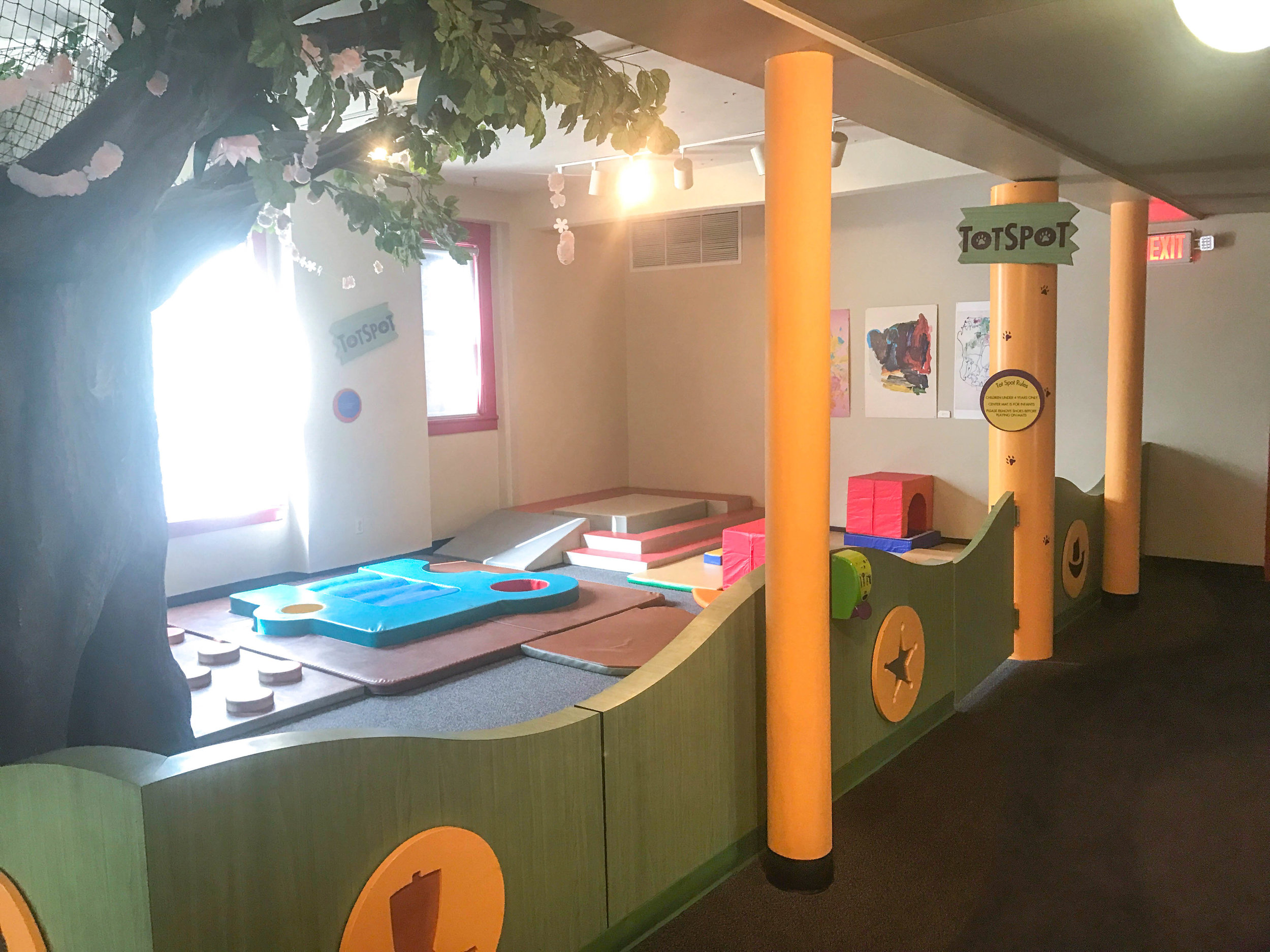 A special spot just for kids under age 4 to explore and build.