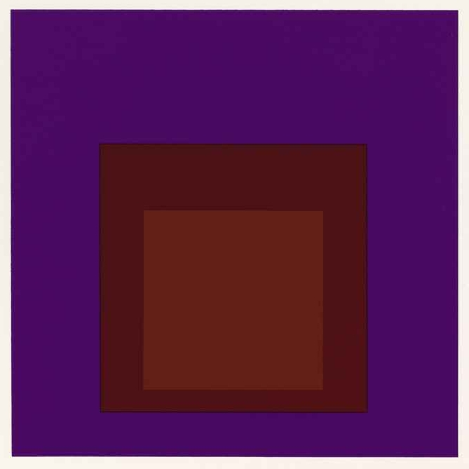 Josef Albers,  Palatial, No. 2, Homage to the Square, Hard Edge-Soft Edge,  1965, serigraph, Collection of The Grace Museum, Gift of Mr. and Mrs. Tony Andress
