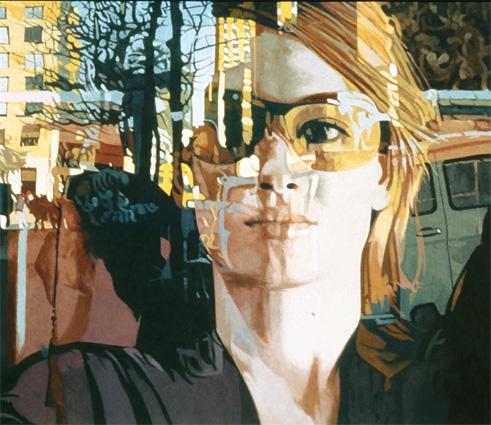 Roger Winter, Columbus Avenue, 2001, oil on canvas
