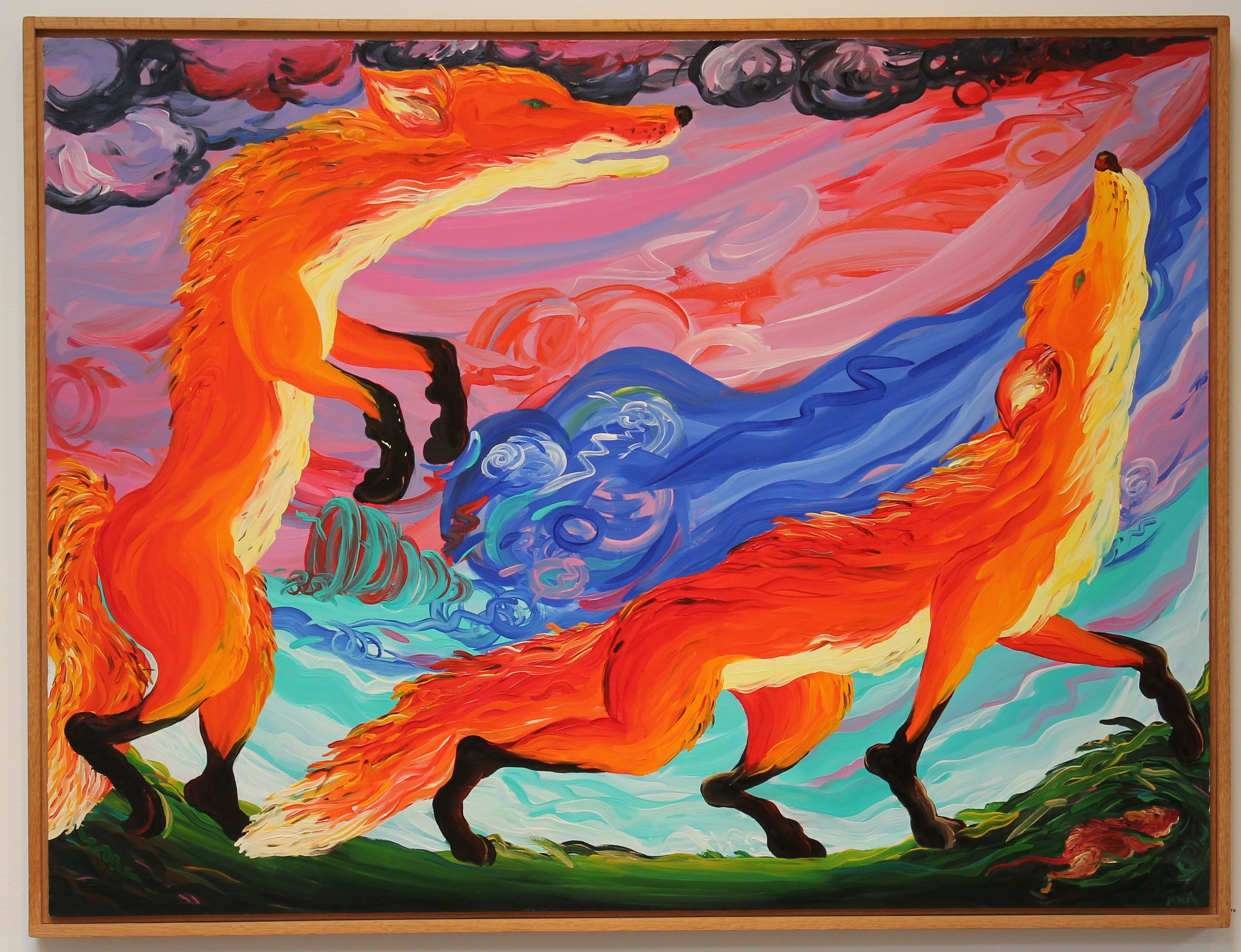 Melissa Miller, Against the Wind, 1981, oil on canvas