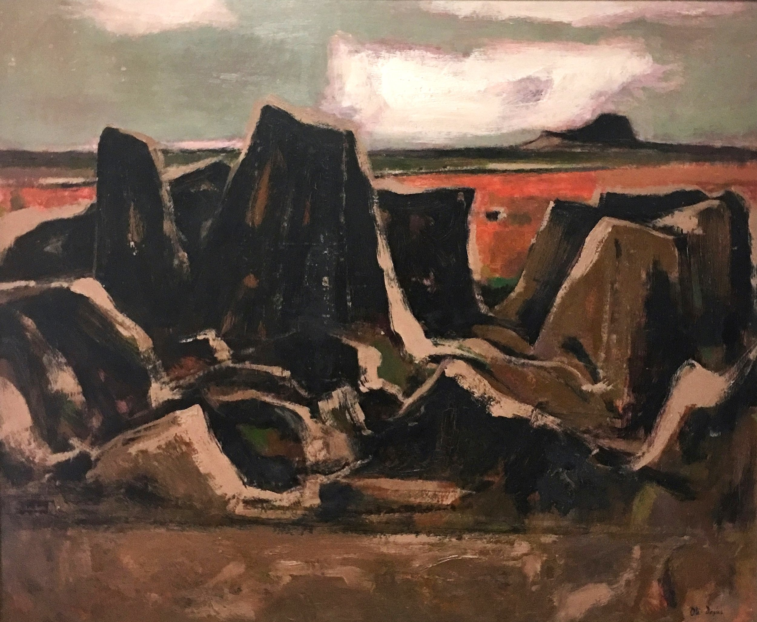 Otis Dozier, Angry Earth, 1965, oil on Masonite