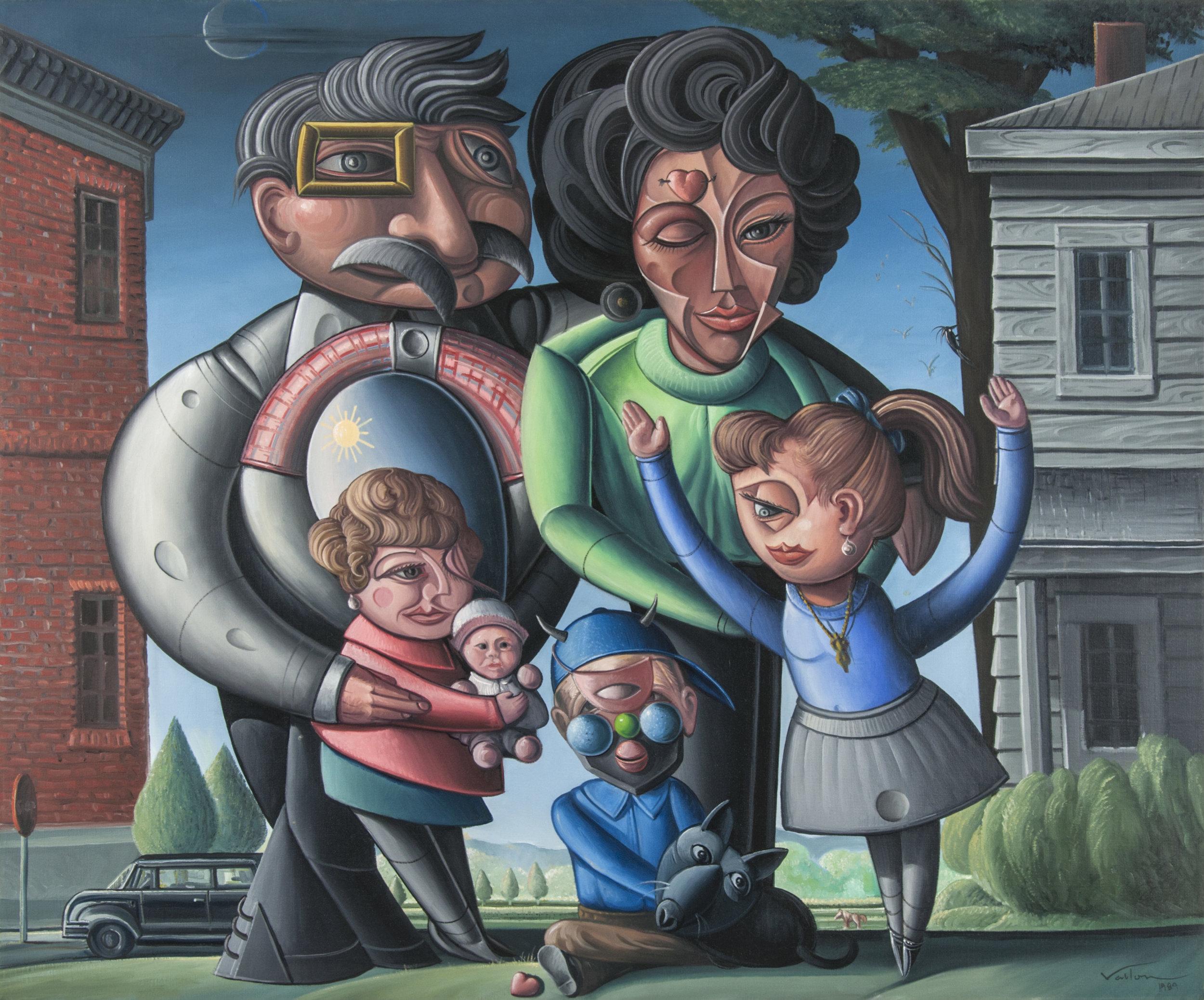 Valton Tyler, The Chitty Family of Terrell, Texas, 1989, oil on linen