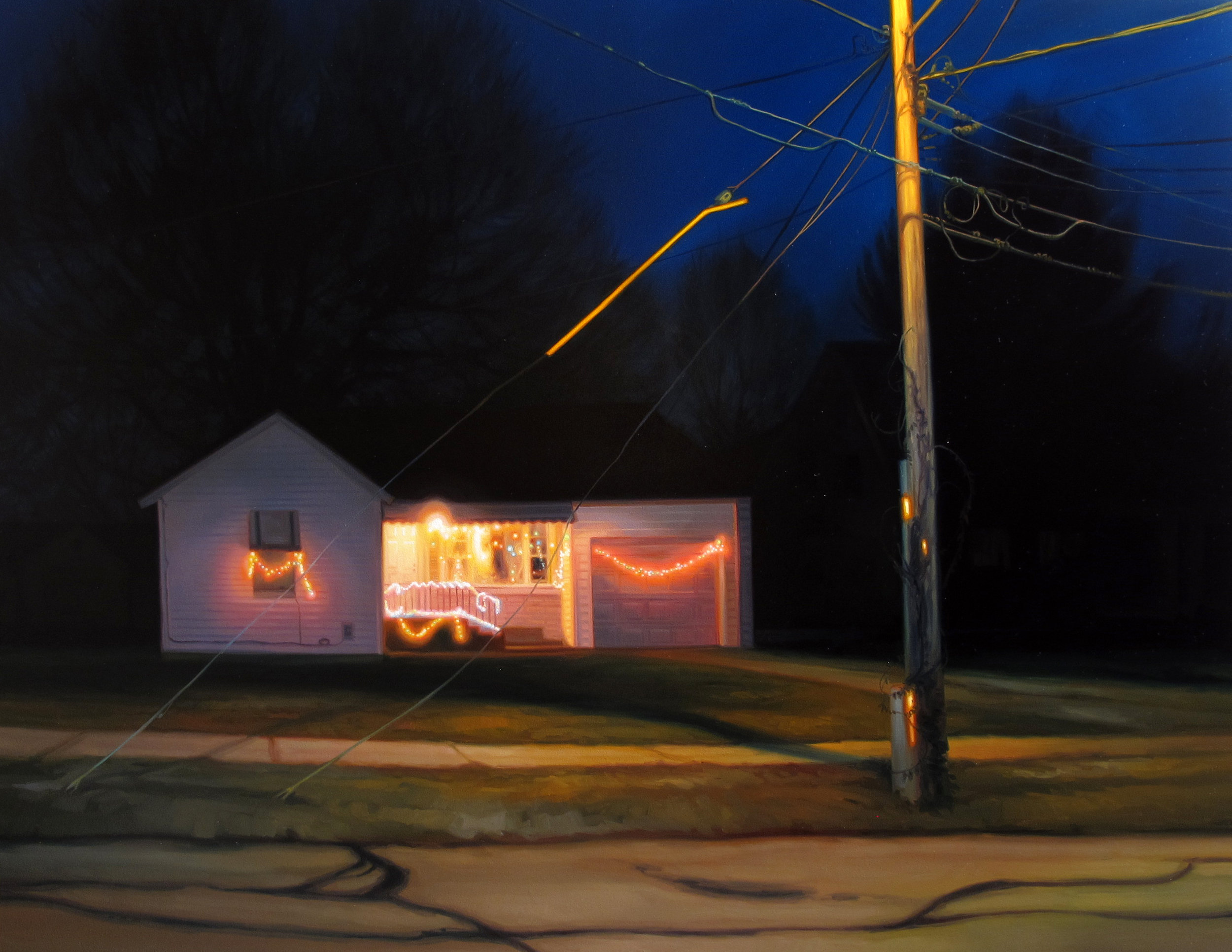 Sarah Williams, South Thelma Avenue, 2015, oil on panel, Gift of the 2016 Collectors Circle