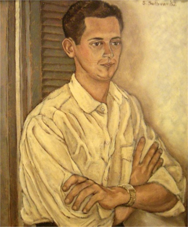 STELLA SULLIVAN,  Portrait of David Moncrief , 1952, oil on canvas.